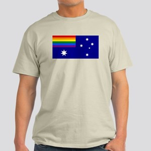 Rainbow Pride Australian Flag Light T-Shirt