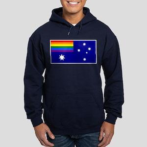 Rainbow Pride Australian Flag Hoodie (Dark)