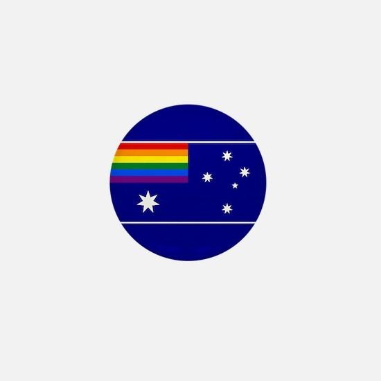 Rainbow Pride Australian Flag Mini Button