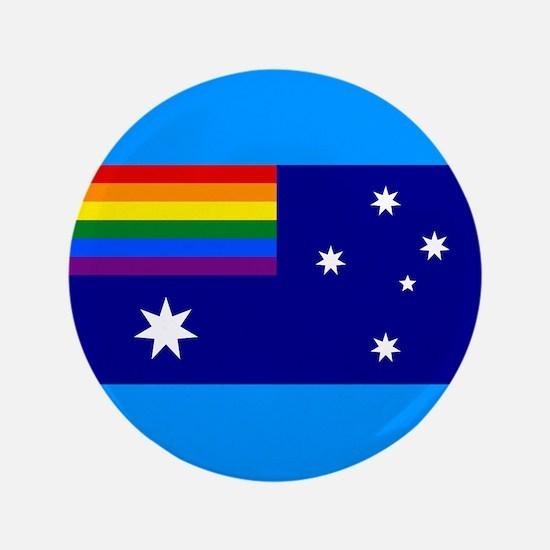 Rainbow Pride Australian Flag 3.5&Quot; Button