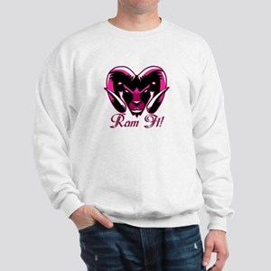 Ram It Pink Ram Head Sweatshirt