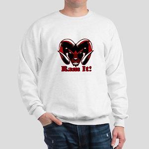 Red Ram It Head Sweatshirt