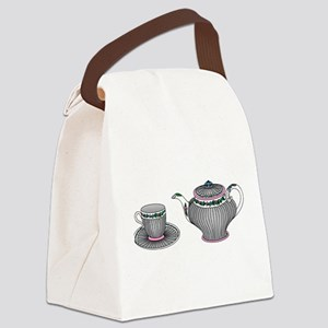 Tea Set Canvas Lunch Bag