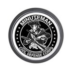 Minuteman Civil Defense Wall Clock