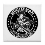 Minuteman Civil Defense Tile Coaster
