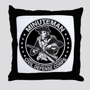 Minuteman Civil Defense Throw Pillow