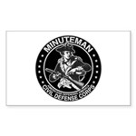 Minuteman Civil Defense Rectangle Sticker
