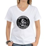 Minuteman Civil Defense Women's V-Neck T-Shirt