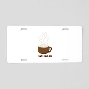 Hot Cocoa Aluminum License Plate