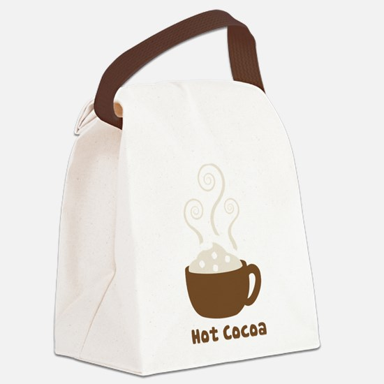 Hot Cocoa Canvas Lunch Bag