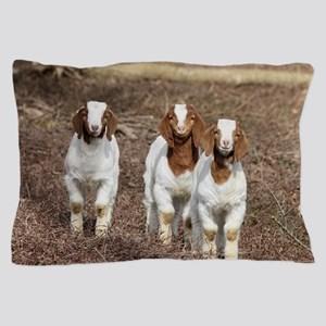 Smiling goats Pillow Case