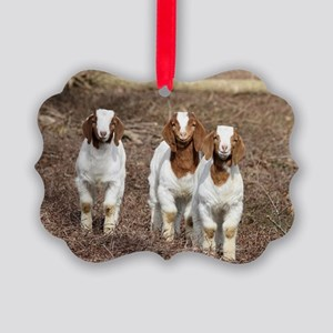 Smiling goats Picture Ornament