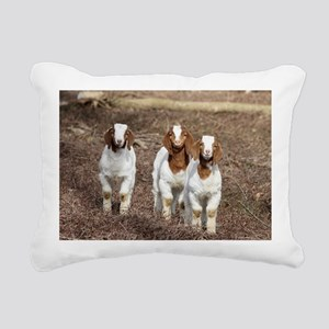 Smiling goats Rectangular Canvas Pillow