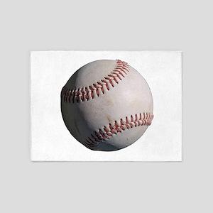 Baseball 5'X7'area Rug