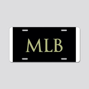 Monogram in Large Letters Aluminum License Plate