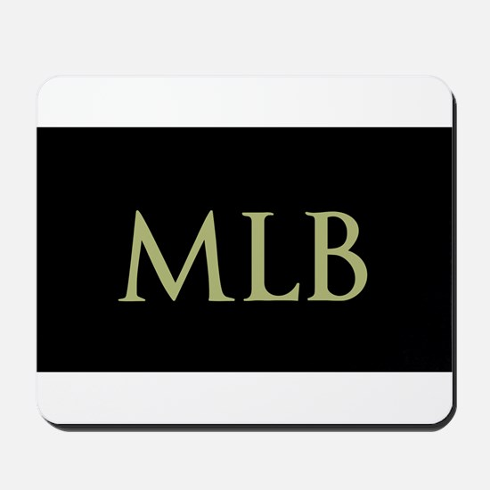 Monogram in Large Letters Mousepad