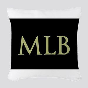 Monogram in Large Letters Woven Throw Pillow