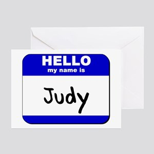 hello my name is judy  Greeting Cards (Package of