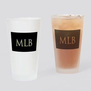 Monogram in Large Letters Drinking Glass