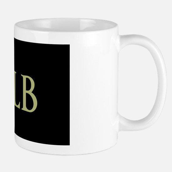 Monogram in Large Letters Mugs