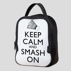 Badminton Keep Calm And Smash On Neoprene Lunch Ba