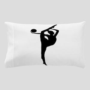 Rhythmic Gymnastics Silhouette Pillow Case