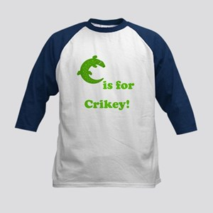 C is for Crikey! Kids Baseball Jersey