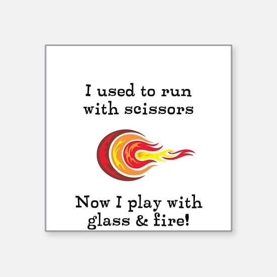 Glass Fire Sticker