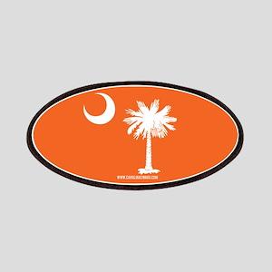SC Palmetto Moon State Flag Orange Patches