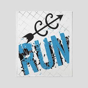 Grunge Run Cross Country Throw Blanket