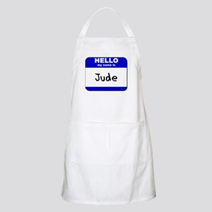 hello my name is jude  BBQ Apron