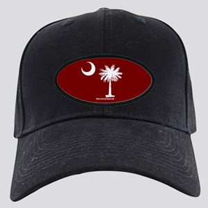 SC Palmetto Moon State Flag Garnet Black Cap