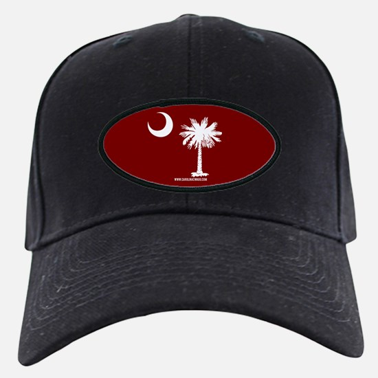 SC Palmetto Moon State Flag Garnet Baseball Hat