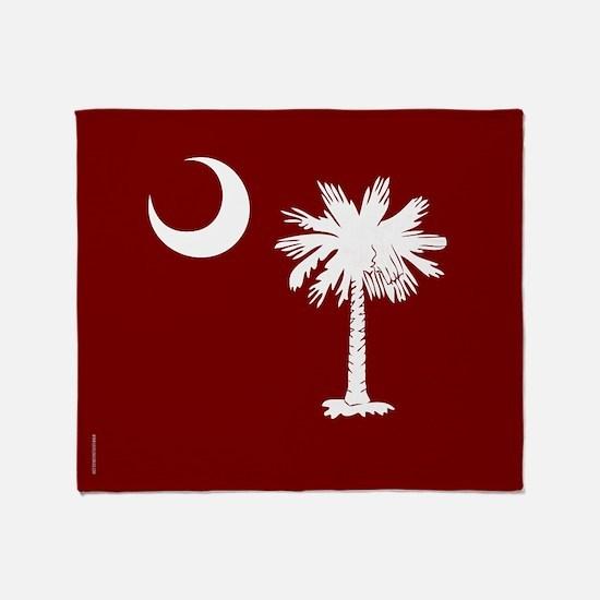 SC Palmetto Moon State Flag Garnet Throw Blanket