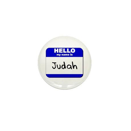 hello my name is judah Mini Button