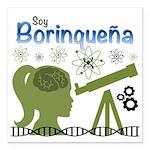 Borinquena Square Car Magnet 3&Quot; X 3&Quot;