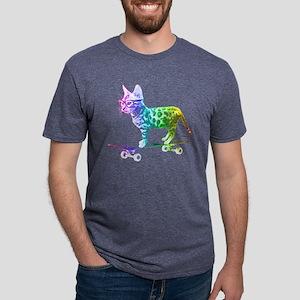 Rainbow Skateboard Cat T-Shirt