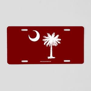 SC Palmetto Moon State Flag Garnet Aluminum Licens