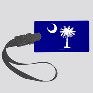 SC Palmetto Moon State Flag Blue Large Luggage Tag