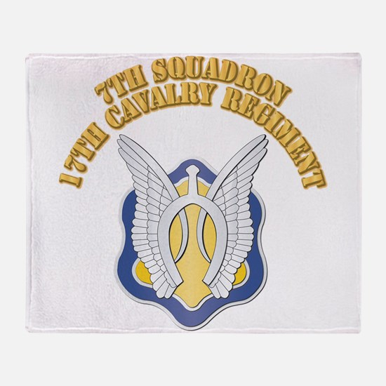 DUI - 7th Squadron - 17th Cavalry Regt with Text T