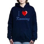 I Heart Running Hooded Sweatshirt