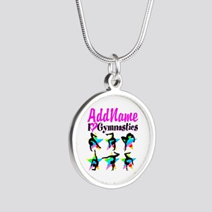 AWESOME GYMNAST Silver Round Necklace