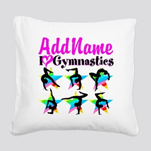AWESOME GYMNAST Square Canvas Pillow