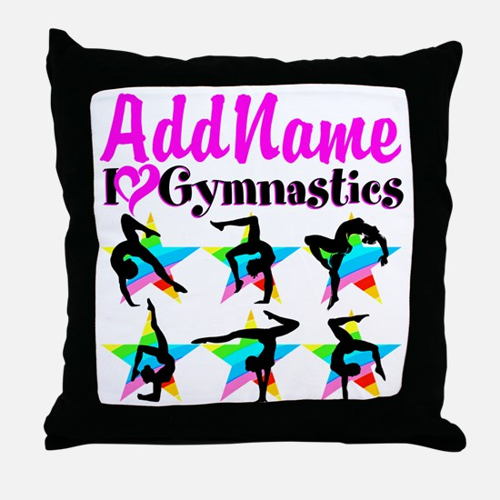 AWESOME GYMNAST Throw Pillow