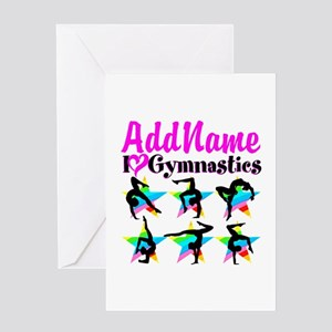 AWESOME GYMNAST Greeting Card