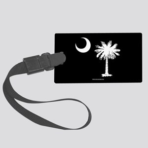 SC Palmetto Moon State Flag Black Large Luggage Ta
