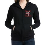 Peace Love Taekwondo Women's Zip Hoodie