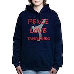 Peace Love Taekwondo Women's Hooded Sweatshirt
