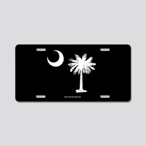SC Palmetto Moon State Flag Black Aluminum License