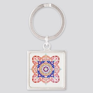 psychedelic  Square Keychain